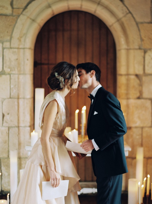 Elleson Events | Ancient Spanish Monastery Miami FL | Wedding Inspiration | Simply Sarah Photography | Twigs & Honey | Chaviano Couture Dress