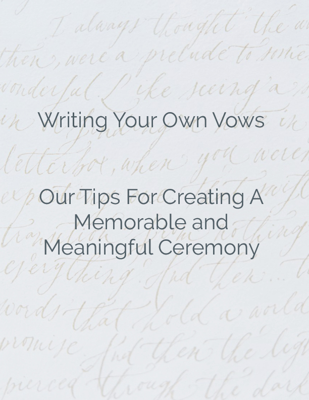 Writing your own wedding vows | Calligraphy Wedding Vows
