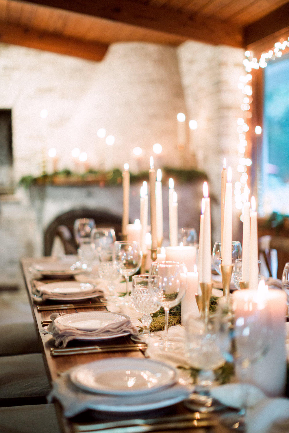 Intimate family dinner with farm table and x back chairs