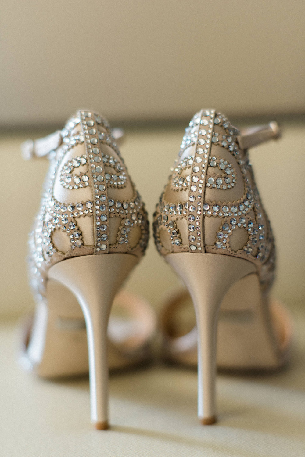 Sparkly Badgley Mishka Bridal Heels