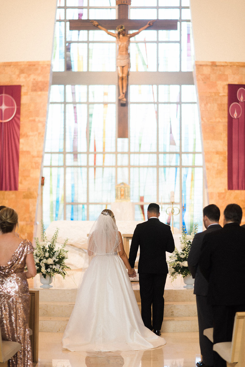 Blush and gold Catholic Wedding Ceremony