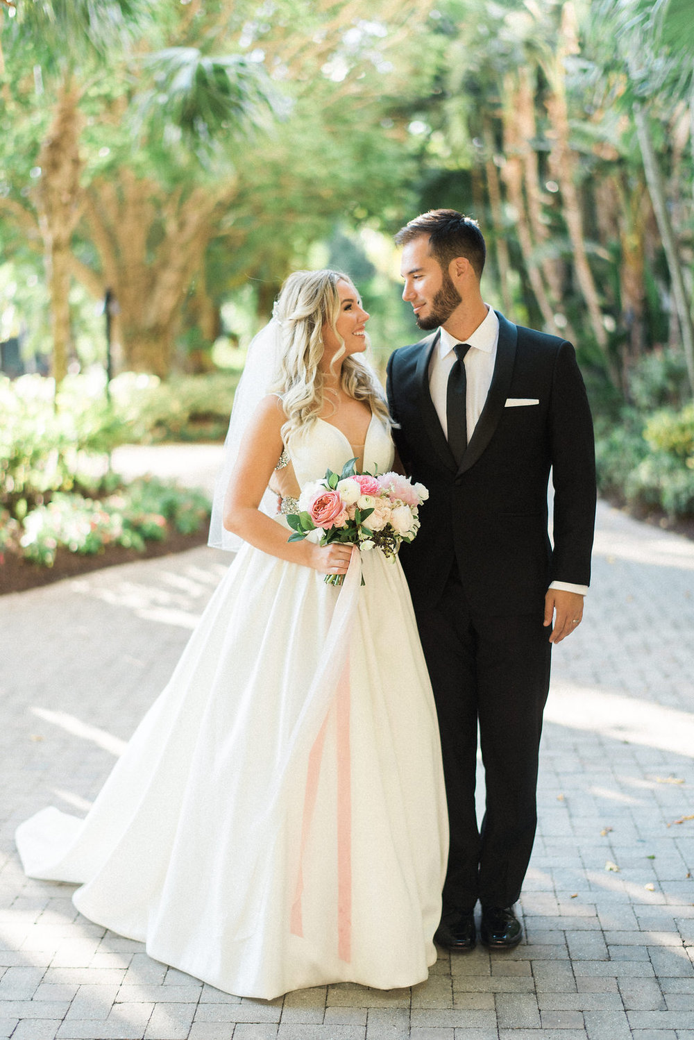 Bride and Groom portraits at Hyatt Regency at Coconut Point Florida