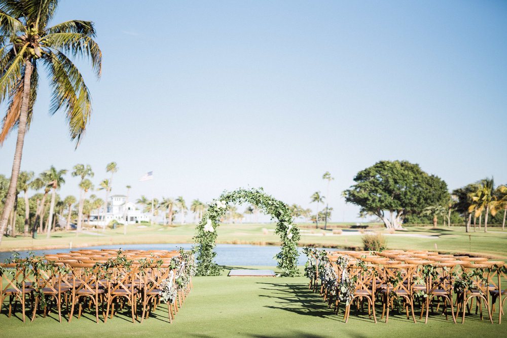 Outdoor, waterfront ceremony