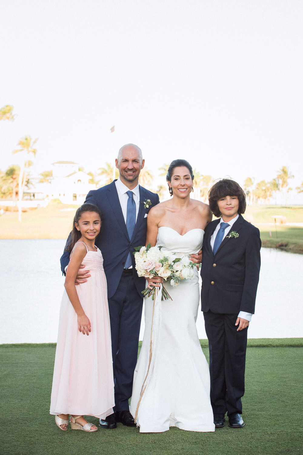 Family photos on the wedding day at Gasparilla Club