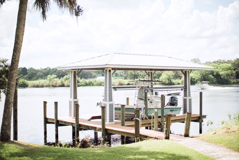 boat dock on the intracoastal waterway