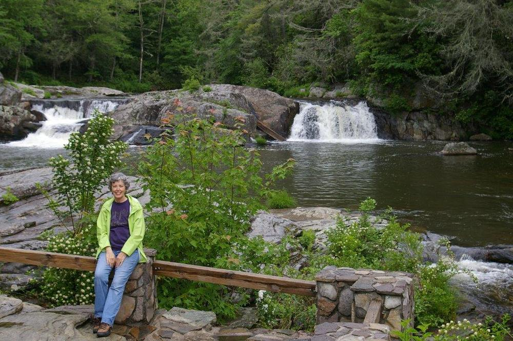 Betsy Wood enjoys Linville Falls.