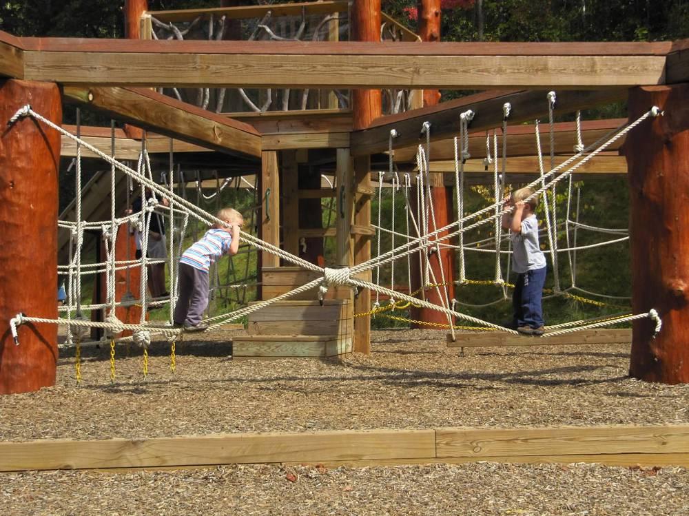 Betsy Cain's sons, Elijah & Bryson play at  Rocky Knob Park