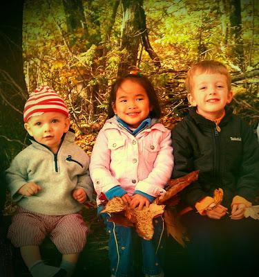 Teesa Klear and her children, Hudson, Carolina and Sam enjoy a hike at Cascades.