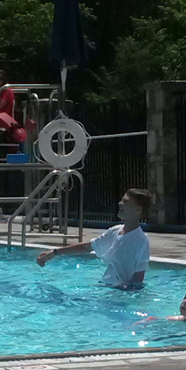 Jonathan Jones (son of Robyn & Clayton) has a blast at the Blowing Rock Pool.