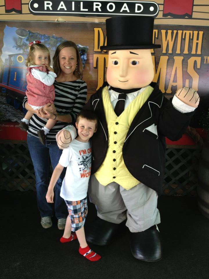 Reagan, Kristan and Davis Peavy visit Tweetsie on A Day out with Thomas the Tank Engine.