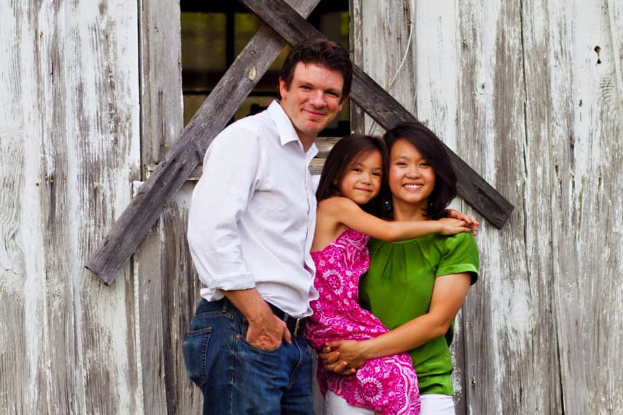 Nhung with her husband, Trip and her daughter, Lexie.  Nhung serves with the Human Resources Dept. in Boone.