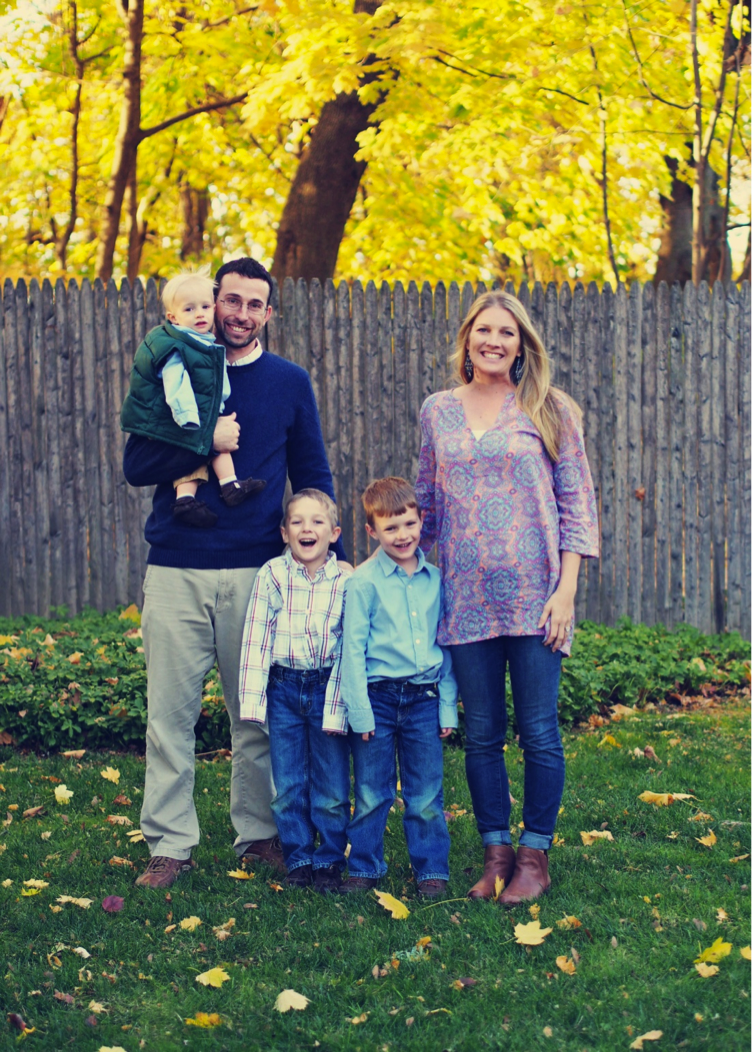Matt and Betsy Cain with their three boys.  Matt serves with the International Projects Department at Samaritan's Purse.