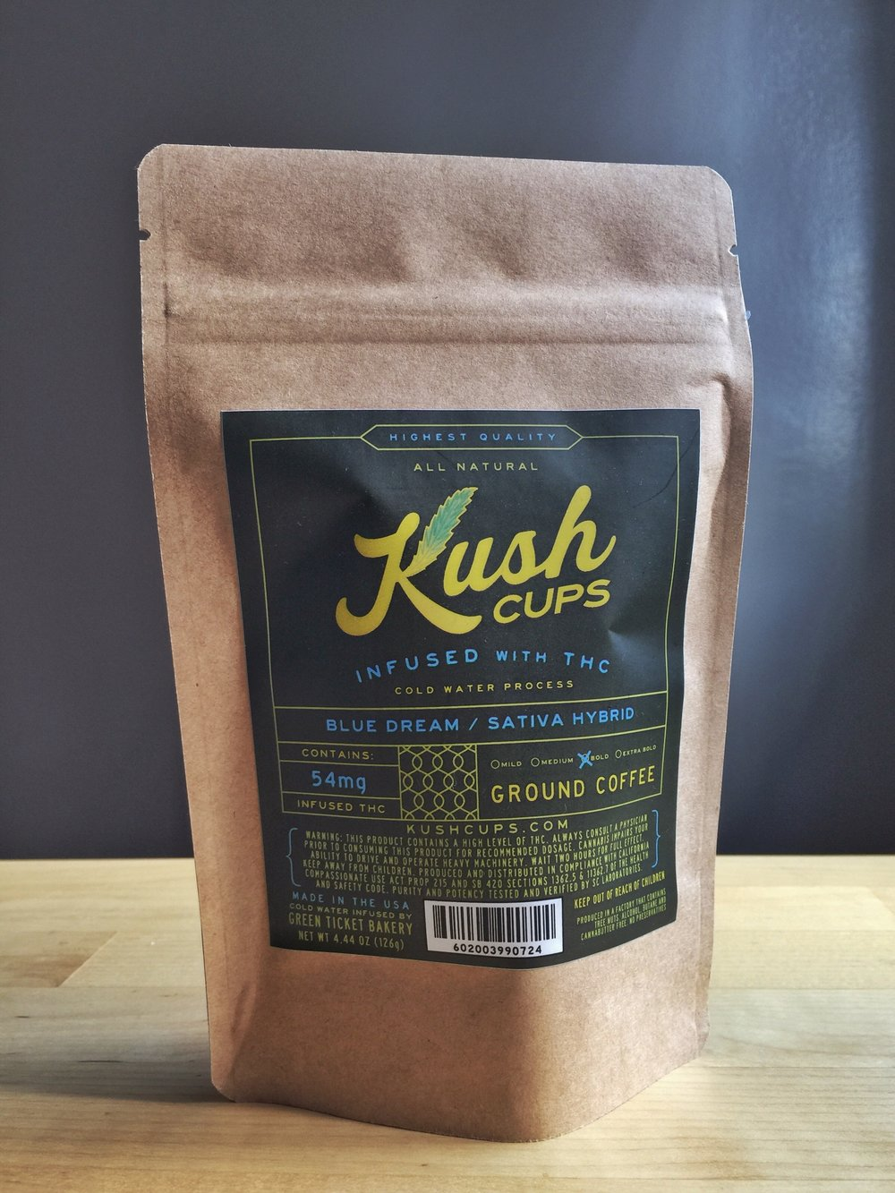 Kush Cups - Ground Coffee - CANNABIS INFUSED