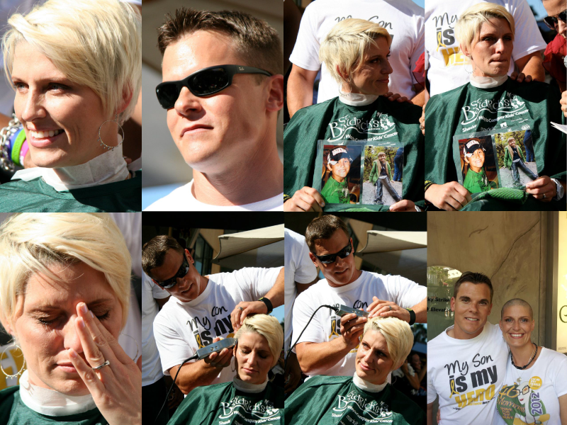 Kim & Chris Jostad at the 2012 St. Baldrick's 46 Mommas Shave For The Brave. Photography by Ray Schiel