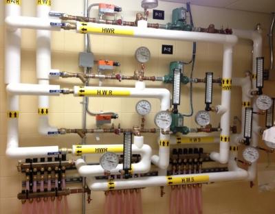 Shot of Seaman plumbing job