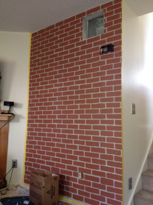 """The """"base"""" brick painting complete"""