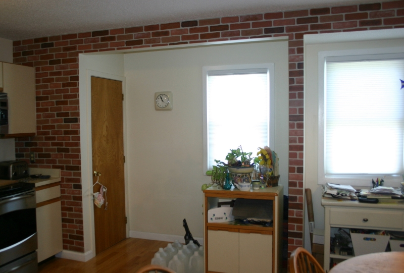 The completed kitchen wall