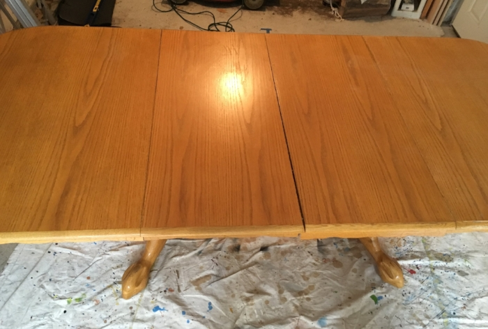 Dining table finish before