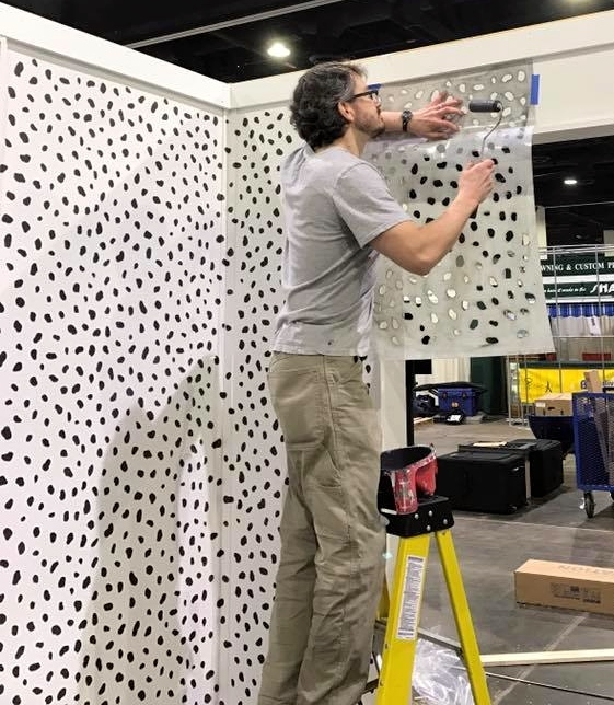 Painting the dalmatian spots