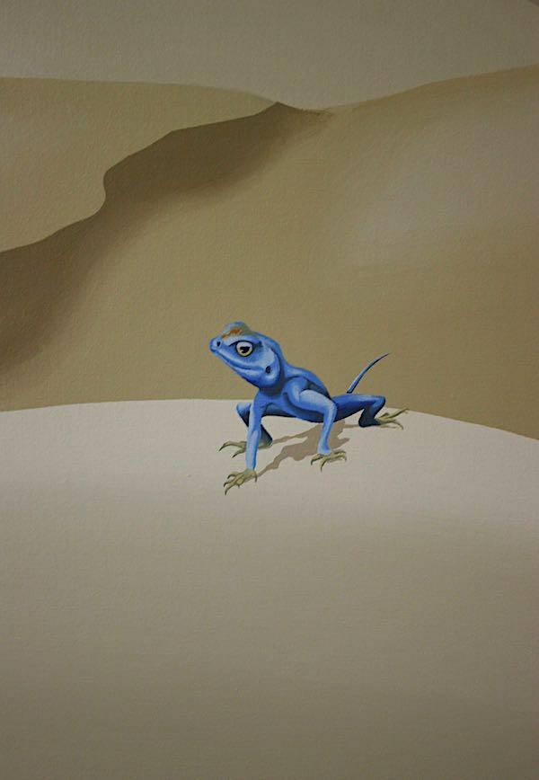 Sinai Agam lizard detail