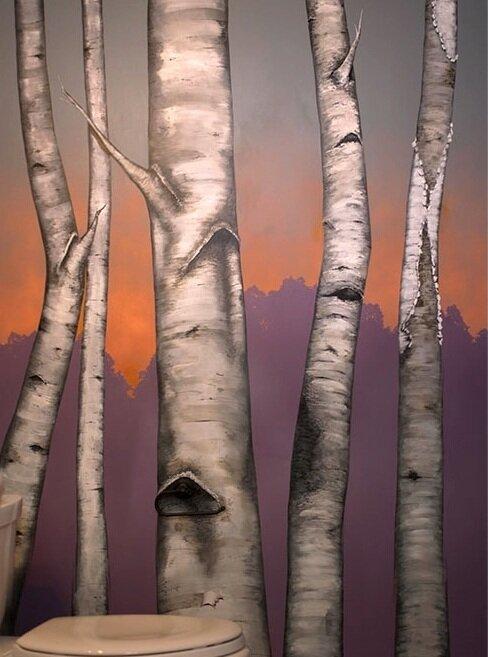 Birches Mural