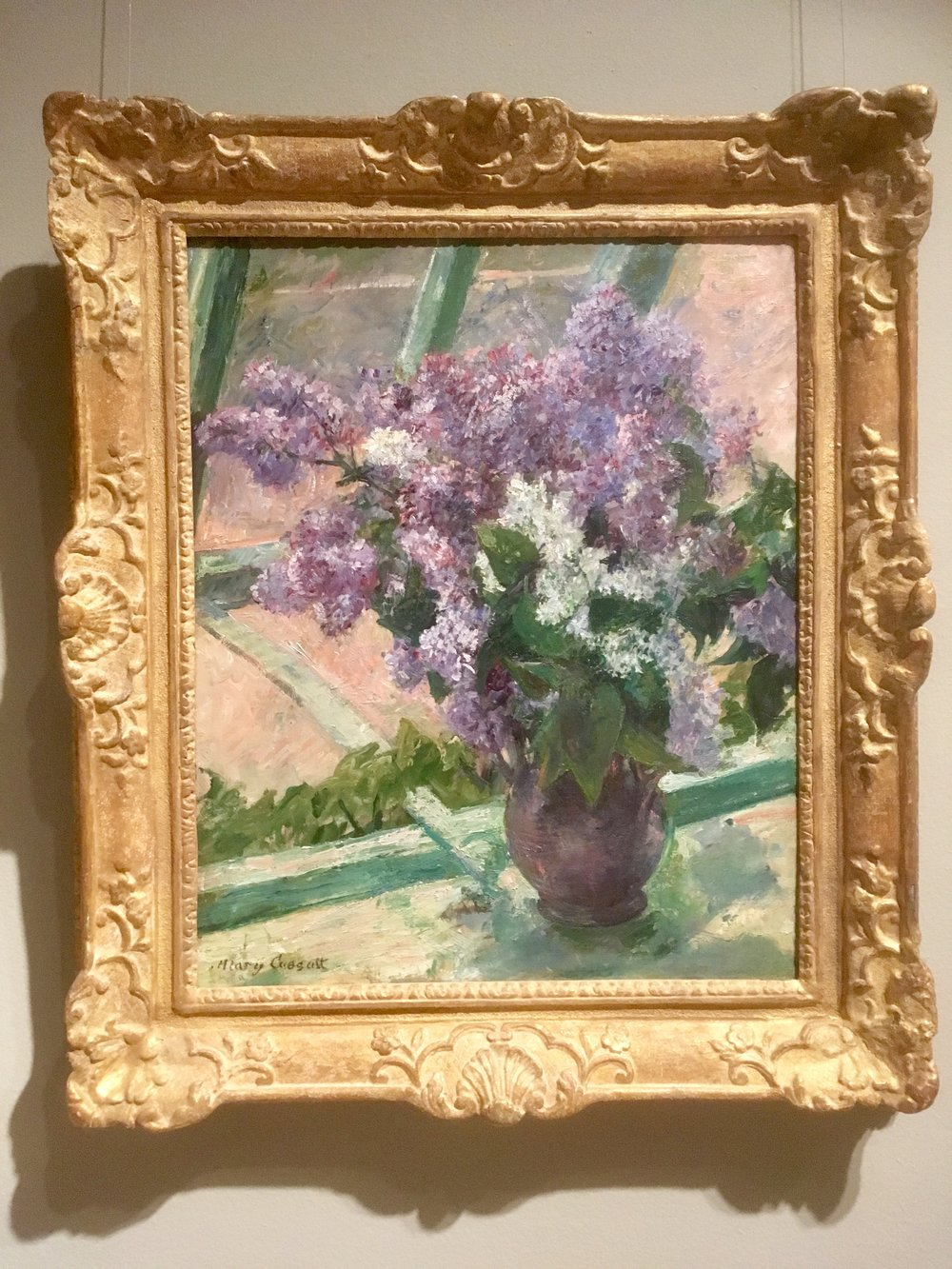 "Mary Cassatt, 'Lilacs in a Window"" ca. 1880-1883"