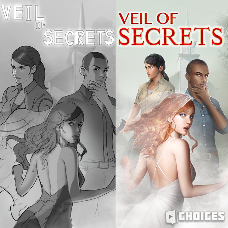 Check out this early sketch of the Veil of Secrets cover from our art team!