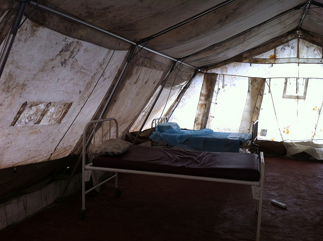 photo by CDC Global of an Ebola isolation center