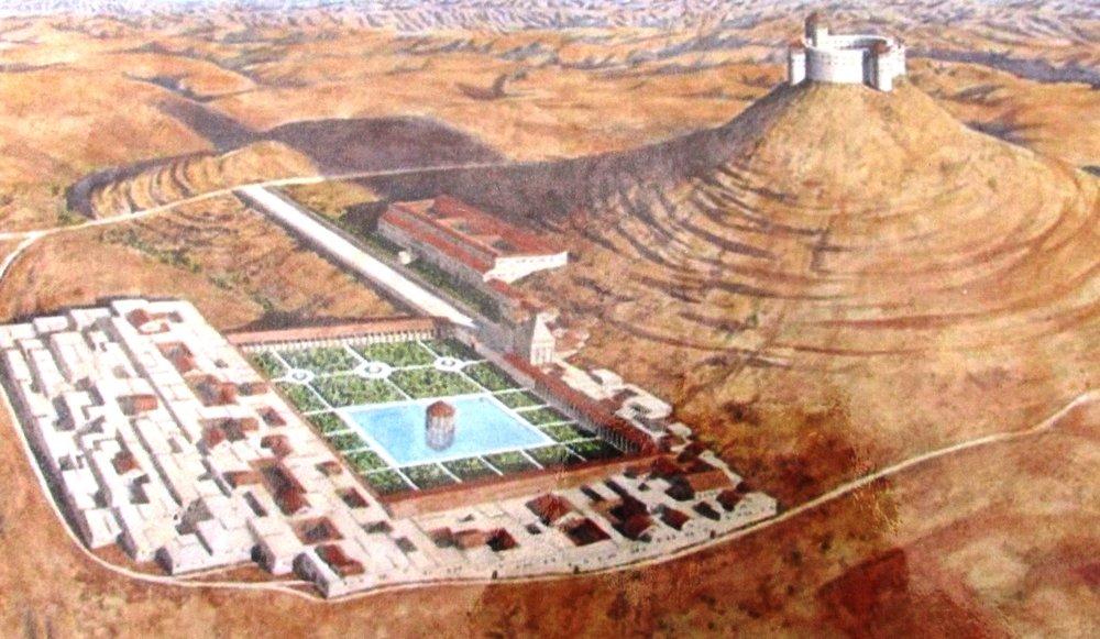 Artistic rendering of ancient Herodium