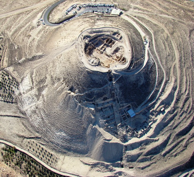 Aerial view of Upper and Lower Herodium