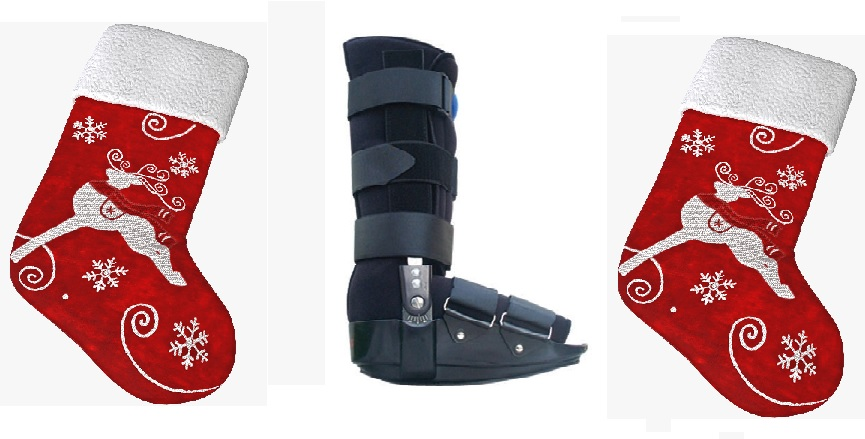 A Cam Boot is can be used to immobilise the ankle in severe cases.