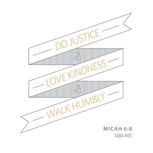 A Micah 6:8 quote designed to be shareable once people join the Sojourners mailing list.