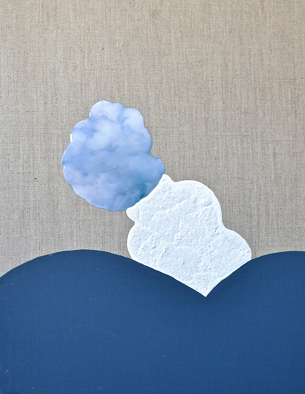 Cloud Rest, Collage, Acrylic, Resin and Pigment on Linen, 36x46cm, 2016, $1250.JPG