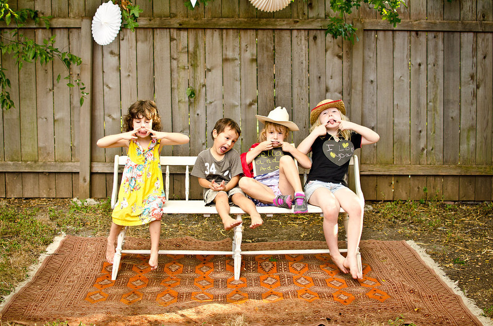 Joy, Jude, Bella, and Ada. Between the four of them, I think they ate 20 snow cones.