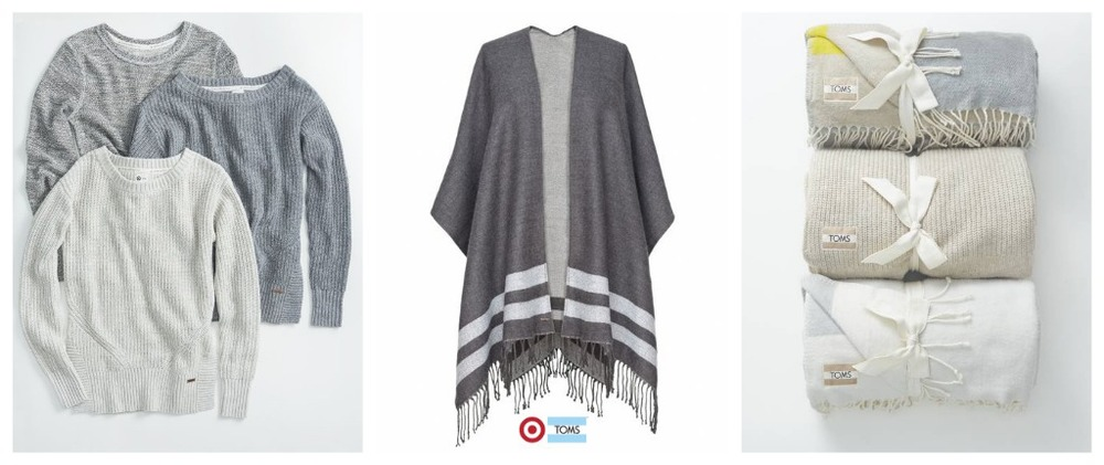 (L-R) Women's sweater- $32 // women's poncho- $28 // cozy throws- $30
