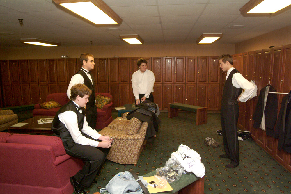 We were married at a golf clubhouse. Look how nice the men's locker room is. Pretty cushy, huh?