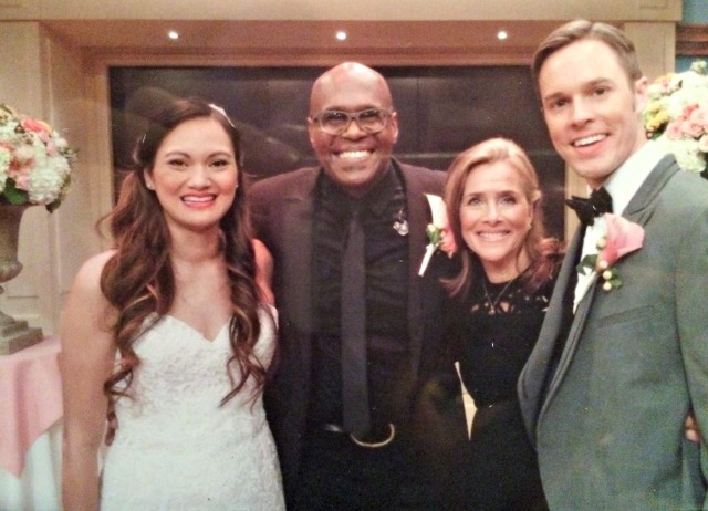 """This really happened last weekend! // Me with """"Rev Ev"""", Meredith, and Chris."""