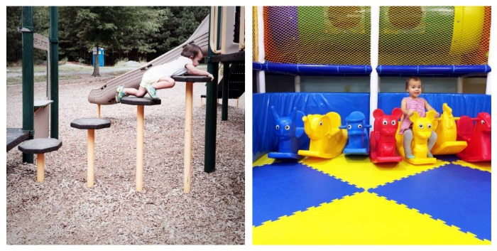 There is no playscape that intimidates Caroline. // Coco is happiest when she's on the go!