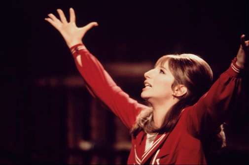 Barbra Streisand in the film version of FUNNY GIRL.