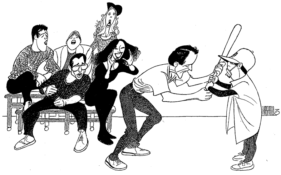 Al Hirshfeld's caricature from The New York Times