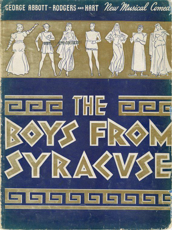 The Boys From Syracuse souvenir program