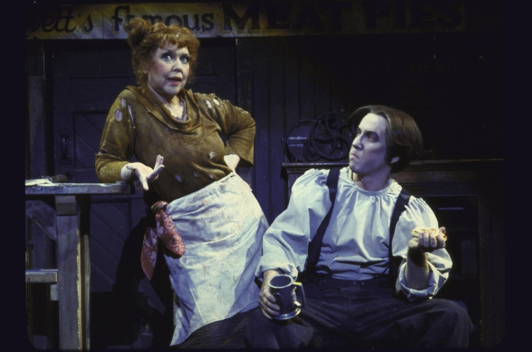 Dorothy Loudon and George Hearn in  Sweeney Todd.