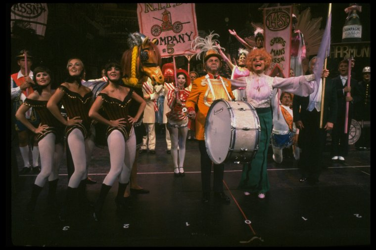 "Carol Channing leads ""Before the Parade Passes By"" in  Hello, Dolly!"