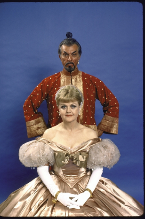 Angela Lansbury and Michael Kermoyan in the 1978 Broadway revival of The King and I.