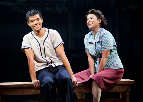 Telly Leung and Lea Salonga in  Allegiance .