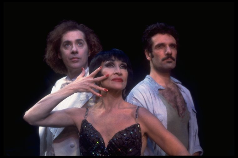 Jeff Hyslop, Chita Rivera and Anthony Crivello in Kiss of the Spider Woman.