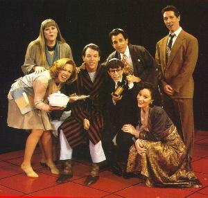 Heather MacRae, Carolee Carmello, Stephen Bogardus, Sivan Cotel, Chip Zien, Barbara Walsh and Michael Rupert in Falsettos