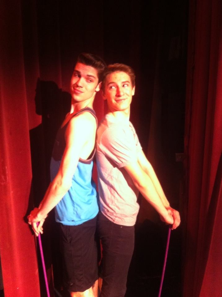 The Plain Great Players Brendon Dalton and Nick Wright rehearse for a production of  Godspell