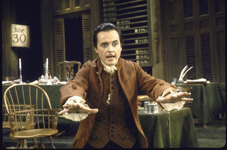 William Daniels as John Adams in  1776
