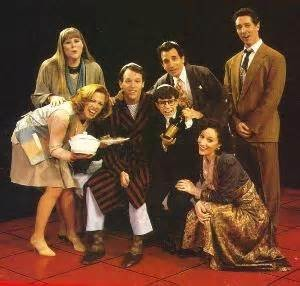 The cast of the 1992 Broadway production of Falsettos.